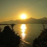 Ilha nascer do sole estilizada